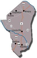 Jefferson County Assessors Office - Jefferson georgia map